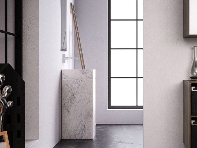 Lavabo freestanding in pietra naturale PERMANO FREESTANDING by FILODESIGN