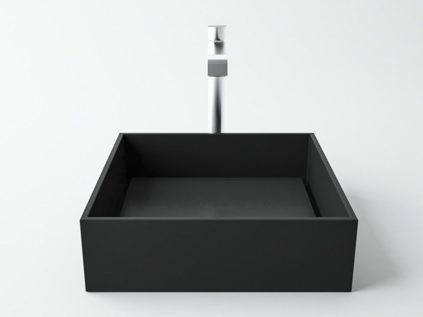 Countertop square slate washbasin PERMANO | Slate washbasin by Filodesign
