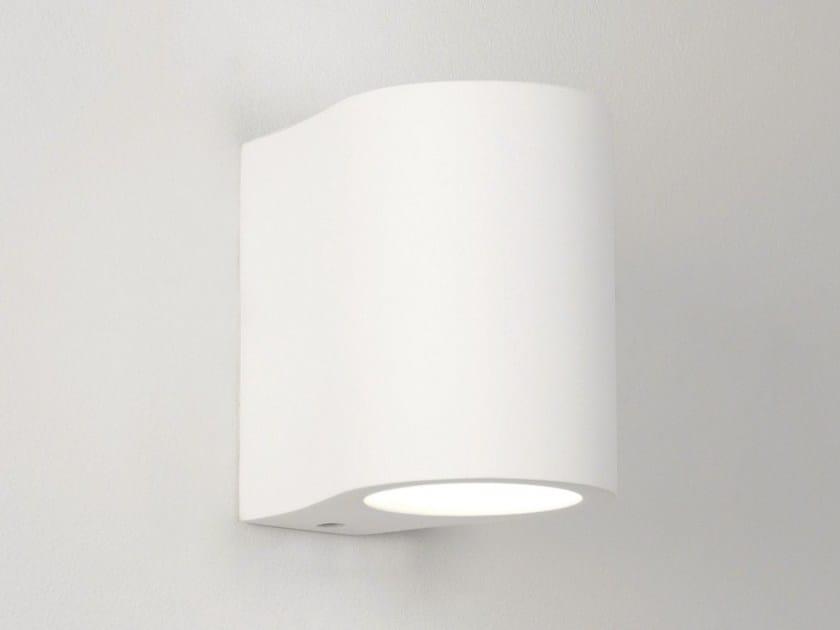 Direct-indirect light gypsum wall light PERO by Astro Lighting