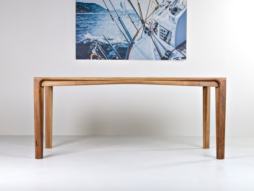 Rectangular solid wood table PERO by HOOKL und STOOL