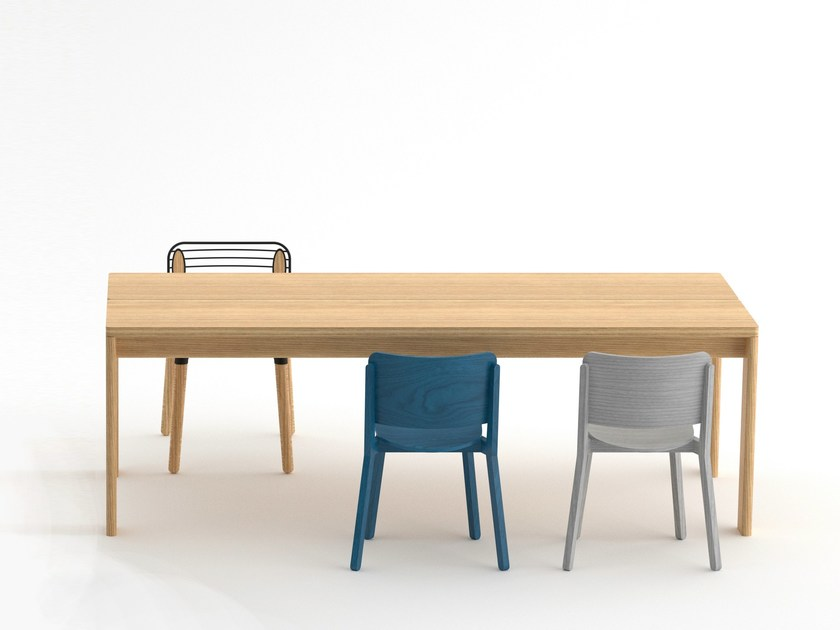 Rectangular oak table PERPENDIC TABLE by Specimen Editions