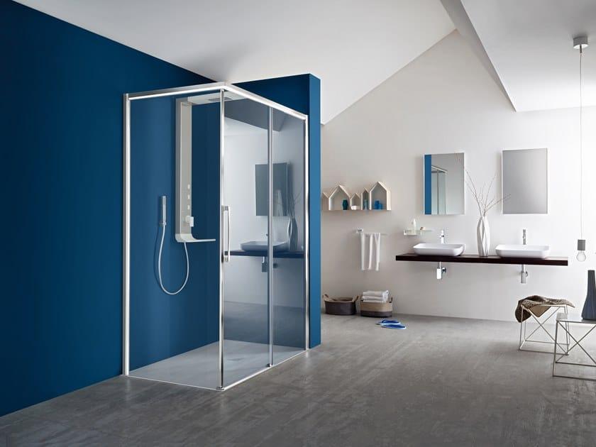 Corner shower cabin with sliding door PERSEO | Corner shower cabin by ARBLU