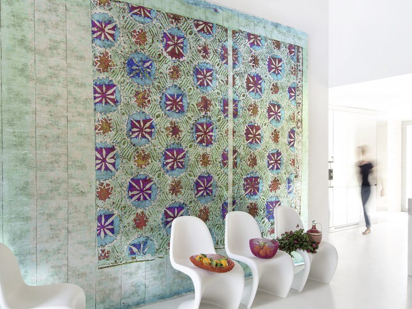 Washable panoramic vinyl wallpaper PERSEPOLIS by Élitis