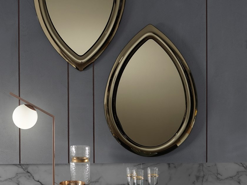 Wall-mounted framed mirror PETALO by RIFLESSI