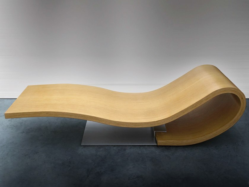Wooden lounge chair PETALO by Wellitaly