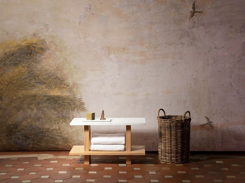 Marble bathroom stool PETIT BANC | Marble bathroom stool by Objets Architecturaux