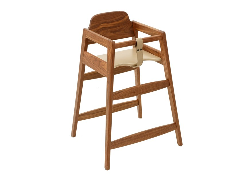 Solid wood high chair PETIT by Conceito Casa