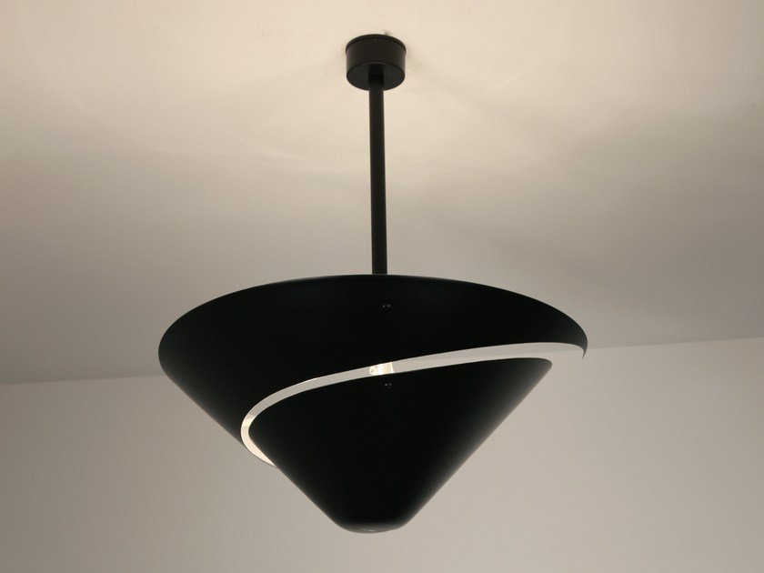 Metal ceiling lamp PETIT ESCARGOT by Serge Mouille