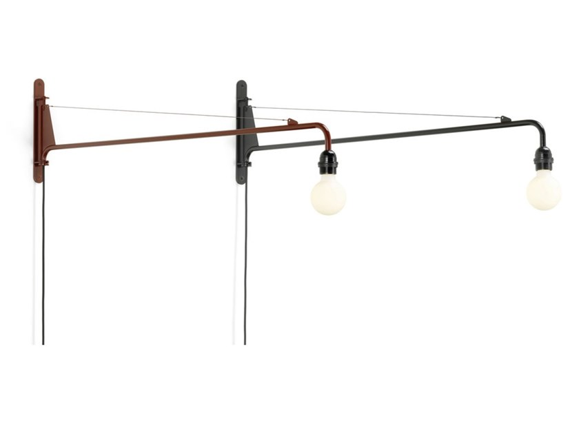 LED steel wall lamp with fixed arm PETITE POTENCE by Vitra