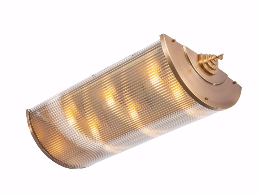 Lampada da soffitto a luce diretta fatta a mano in ottone PETITOT II | Lampada da soffitto by Patinas Lighting
