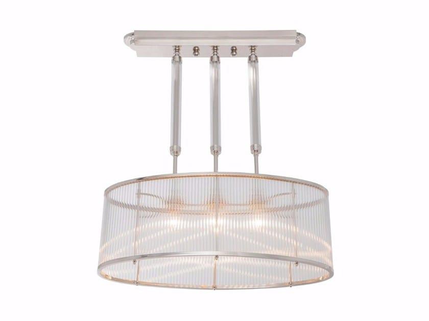 Lampada a sospensione a luce diretta fatta a mano in ottone PETITOT II | Lampada a sospensione by Patinas Lighting