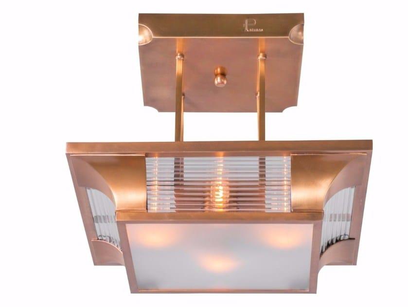Direct light handmade brass chandelier PETITOT IV | Chandelier by Patinas Lighting