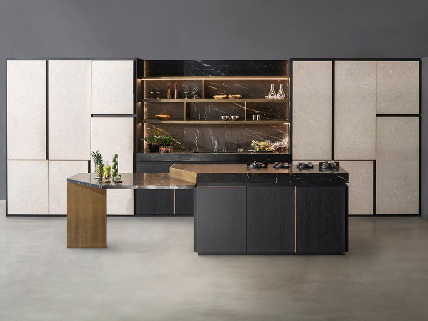 Kitchen with island PETRA(18) by TM Italia Cucine