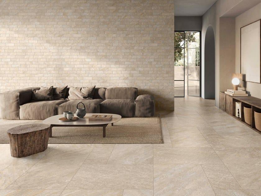 Pavimento/rivestimento in gres porcellanato effetto pietra PETRA by Casalgrande Padana
