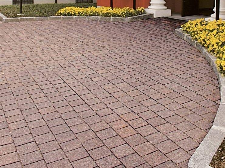 Concrete paving block PETRA - DIAMANTI by RECORD - BAGATTINI