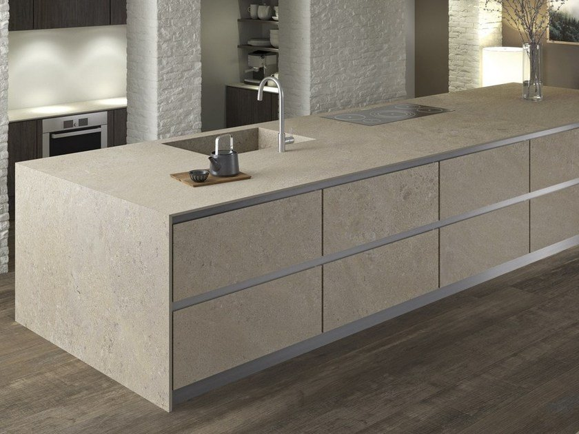 Top cucina in gres porcellanato PETRA ITOPKER by Inalco