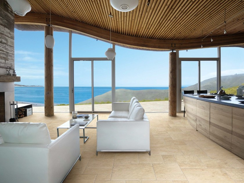 Porcelain stoneware flooring with stone effect PETRA SOLIS by Panaria Ceramica