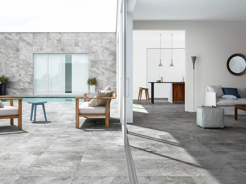 Porcelain Stoneware Wall Floor Tiles With Stone Effect Petrae By Ceramiche Refin