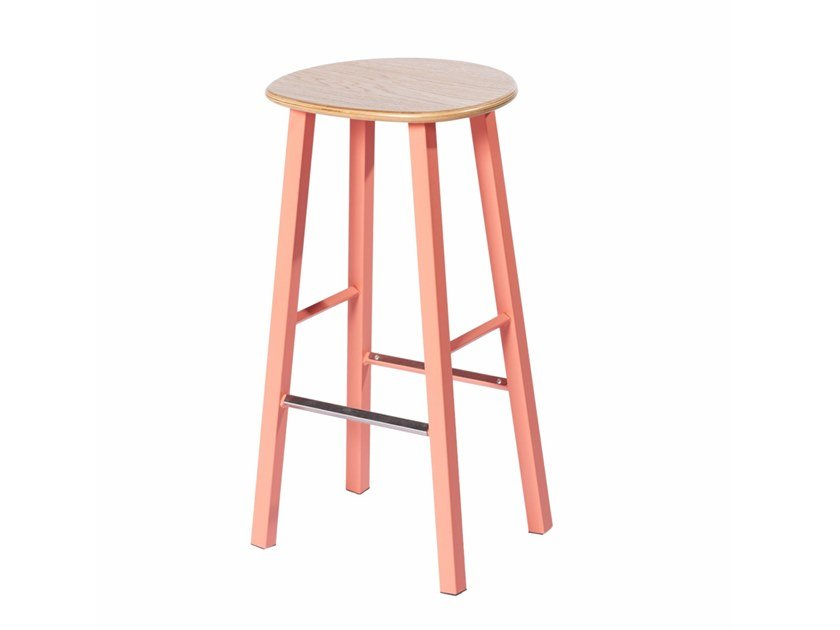Metal barstool with footrest PG 10750405 | Barstool by Punto Design