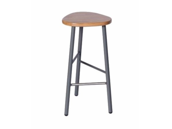 Metal barstool with footrest PG 10750500 | Barstool by Punto Design
