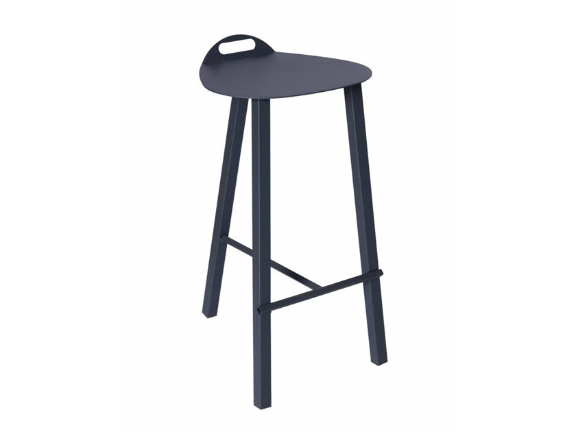 Metal barstool with footrest PG 10750515   Barstool by Punto Design
