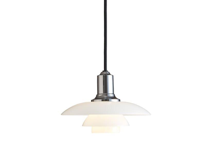 Opal glass pendant lamp PH 2/1 | Pendant lamp by Louis Poulsen