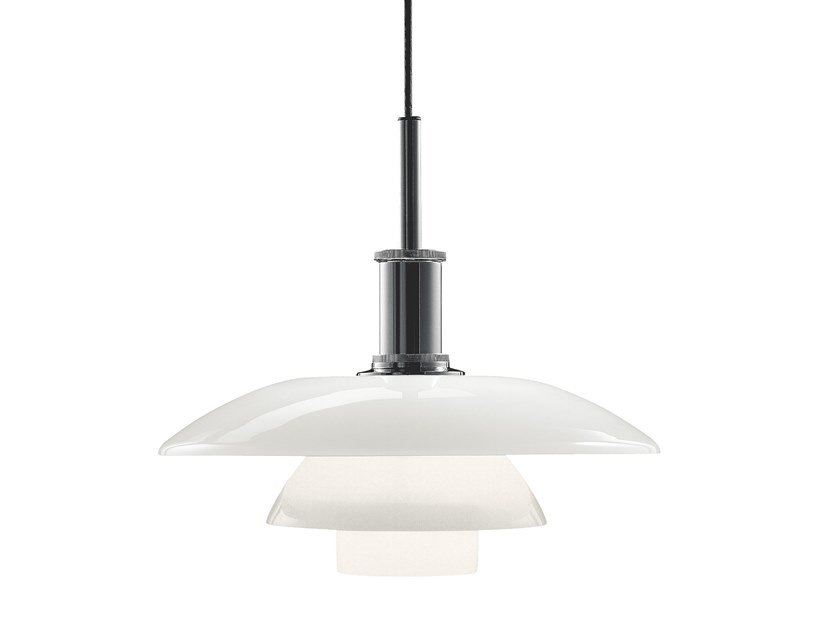 Opal glass pendant lamp PH 4½-4 | Pendant lamp by Louis Poulsen