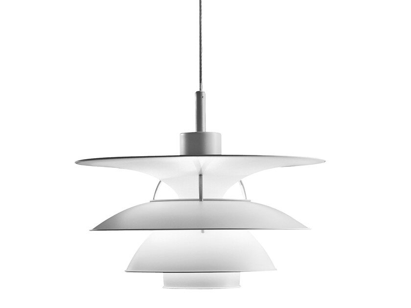 Direct-indirect light aluminium pendant lamp PH 5-4½ & PH 6½-6 | Pendant lamp by Louis Poulsen