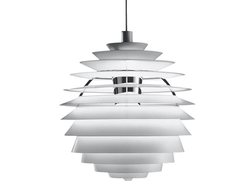 LED indirect light aluminium pendant lamp PH LOUVRE | Pendant lamp by Louis Poulsen