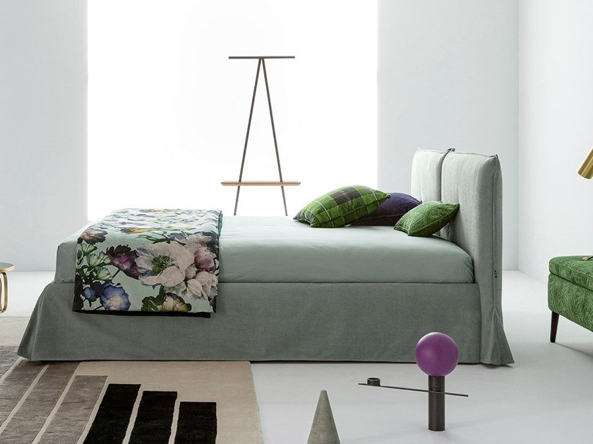 Double bed with upholstered headboard PHILIP   Bed by Twils