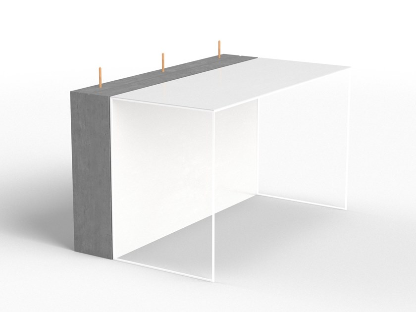 Cement secretary desk PHILIP by Forma&Cemento