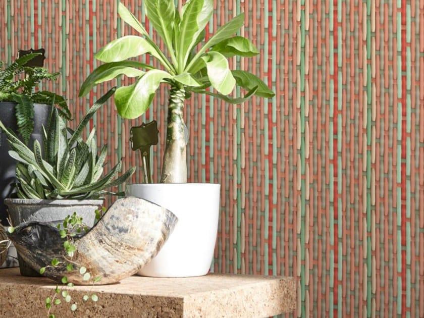Washable nonwoven wallpaper PHILIPPE MODEL X KOZIEL - PINK STRIPES by Koziel