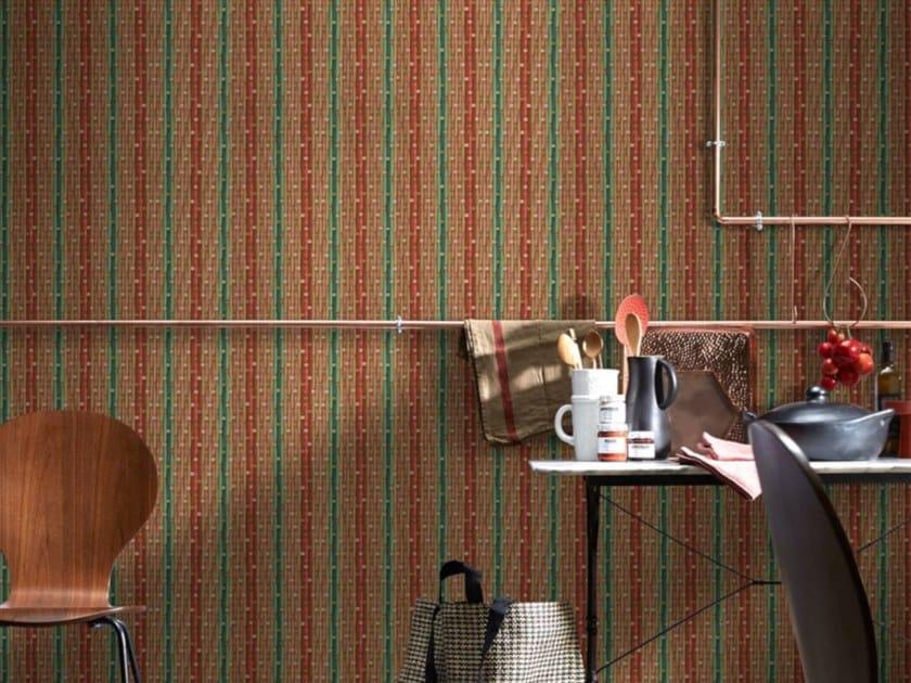 Washable nonwoven wallpaper PHILIPPE MODEL X KOZIEL - RED & GREEN by Koziel
