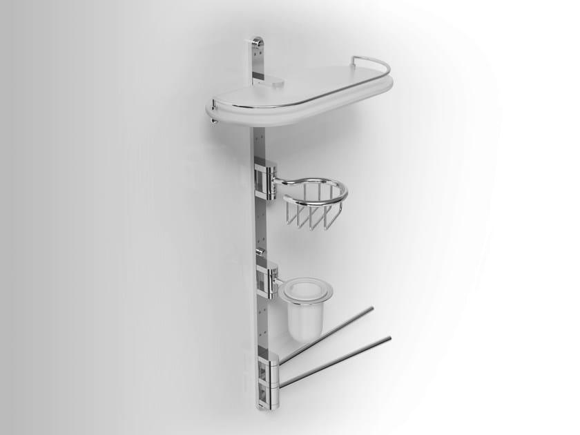 Towel rack/Soap dish/Toothbrush holder/ Bathroom Wall Shelf PHLOX   Bathroom wall shelf by Alna
