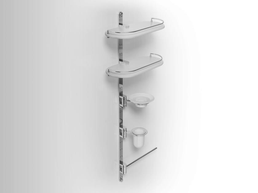 Wall-mounted metal bathroom wall shelf PHLOX | Towel rack by Alna