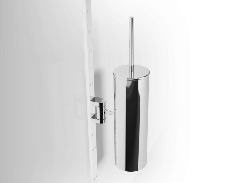 Wall-mounted metal toilet brush PHLOX | Wall-mounted toilet brush by Alna