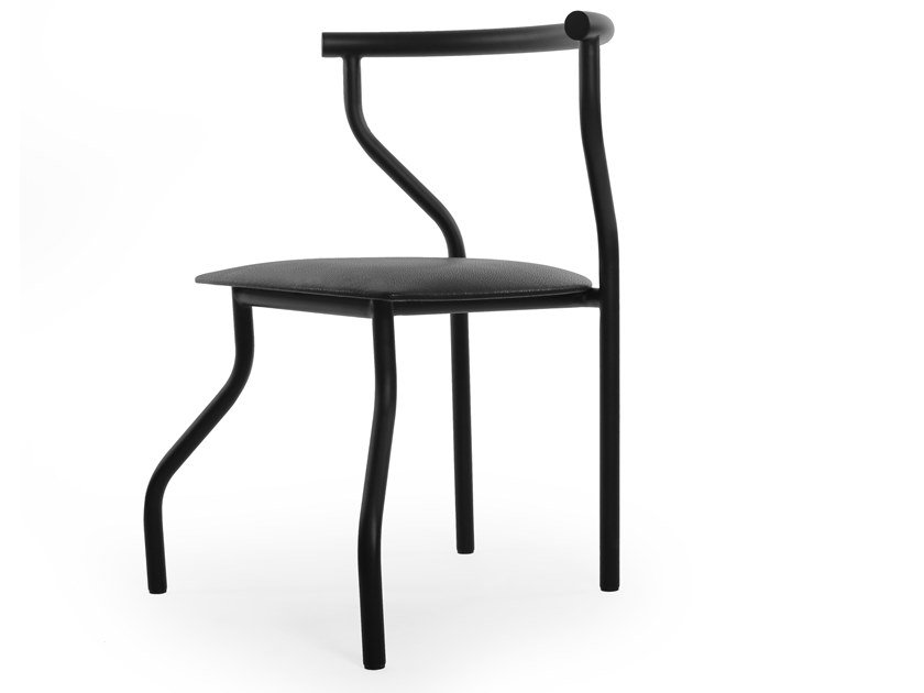 Eco-leather and steel chair PHO by ODESD2