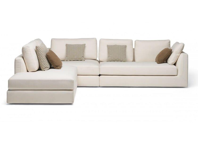 Corner sectional fabric sofa PHOENIX | Corner sofa by MisuraEmme