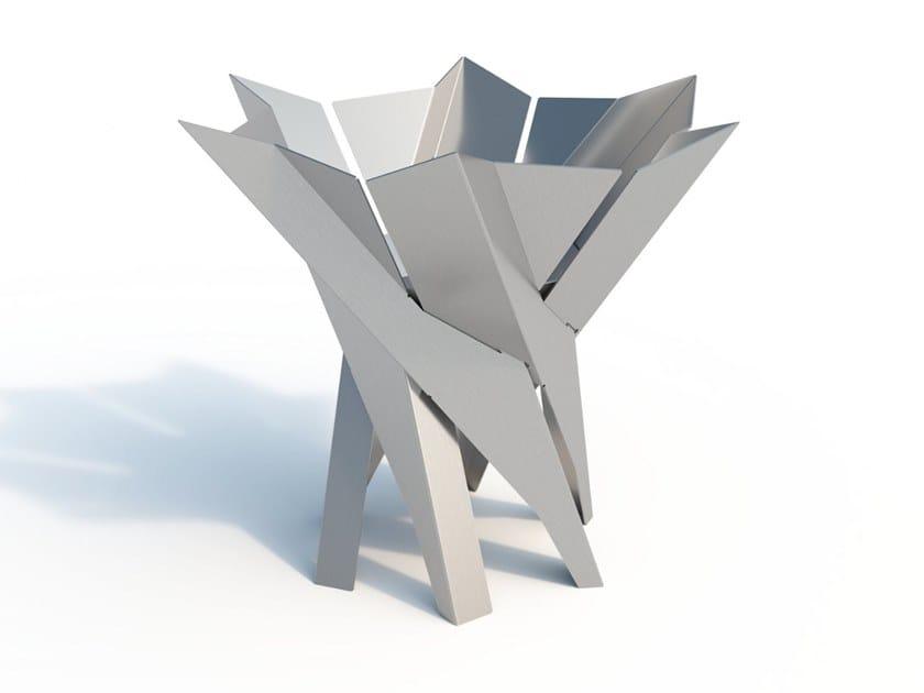 Stainless steel fire baskets PHOENIX FLOWER | Fire baskets by Arpe studio