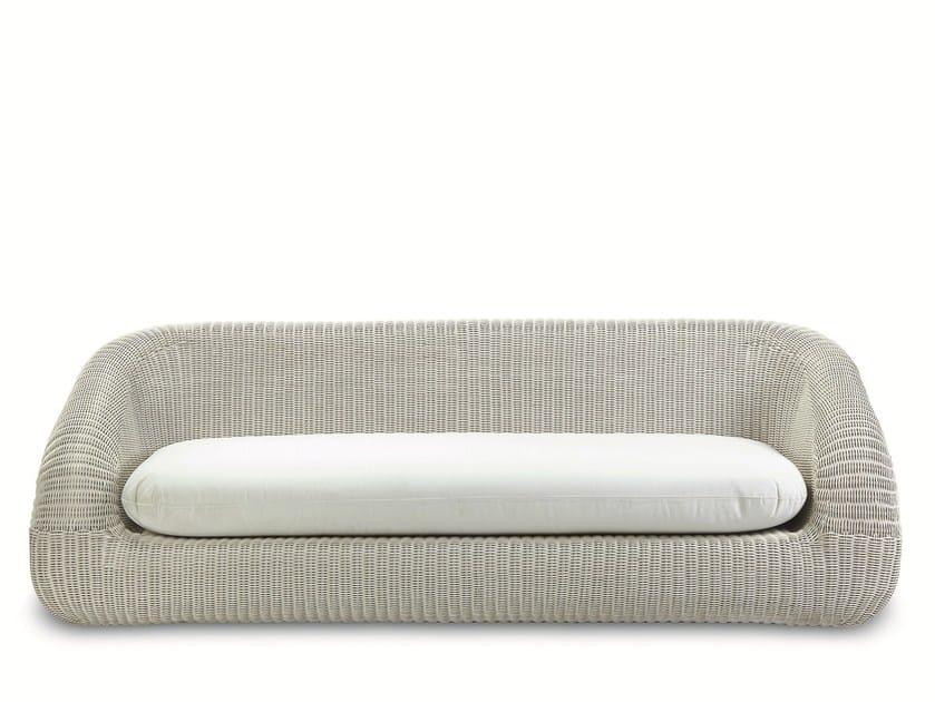 3 seater Ethimo EtWick® garden sofa PHORMA | Garden sofa by Ethimo