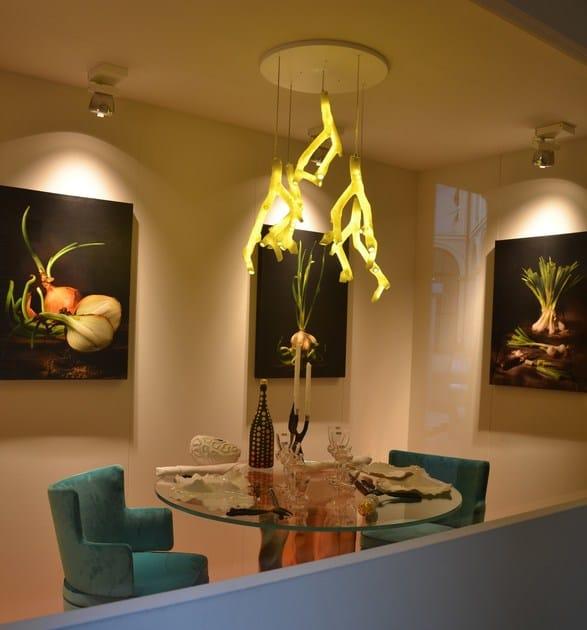 Lampada a sospensione a LED in porcellana PHOTOGENESIS By Fos Ceramiche design Andri Ioannou k23dOn