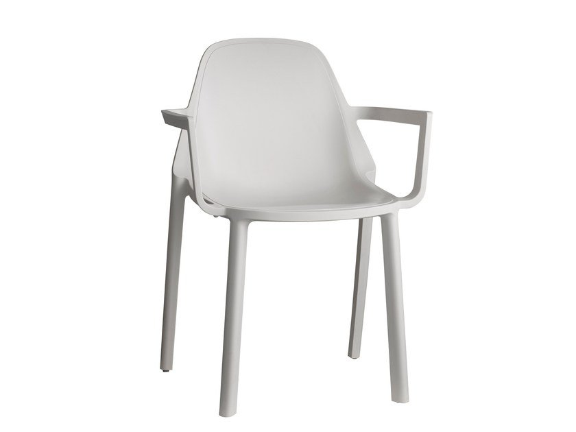 Stackable technopolymer chair with armrests PIÙ | Chair with armrests by SCAB DESIGN