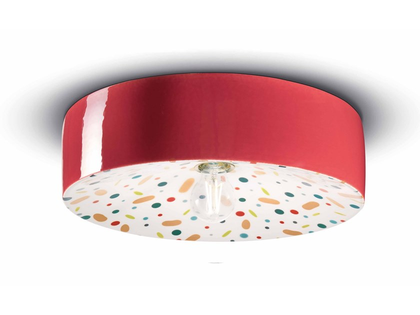 Lampada da parete / lampada da soffitto in ceramica PI C1794 by FERROLUCE