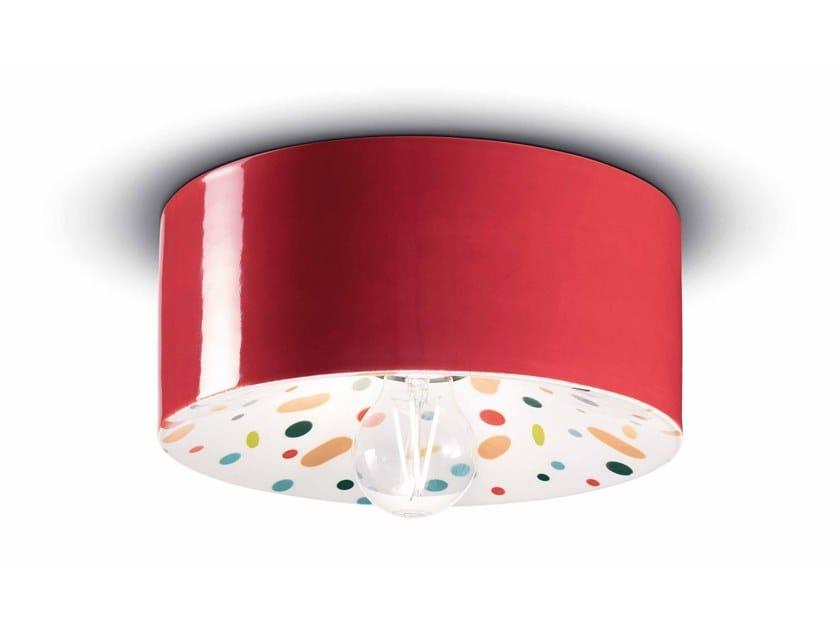 Lampada da parete / lampada da soffitto in ceramica PI C1796 by FERROLUCE