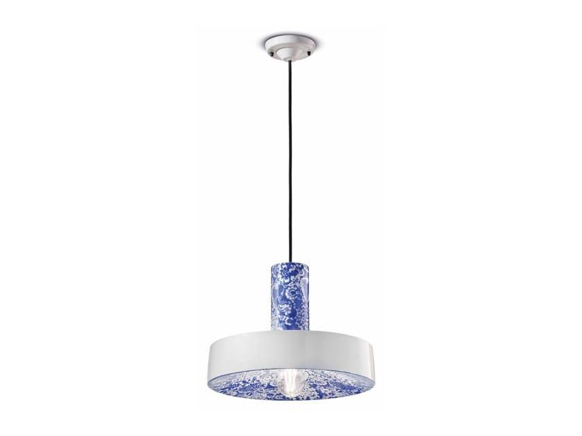 Lampada a sospensione in ceramica PI C2502 by FERROLUCE