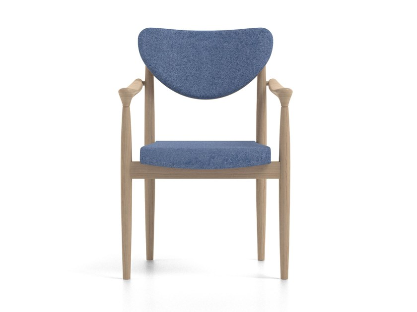 Stackable fabric chair with armrests PIA | HEALTH & CARE | Chair with armrests by PIAVAL