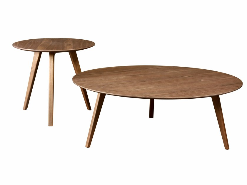 Round wood veneer bistro side table PIA | Side table by HMD INTERIORS