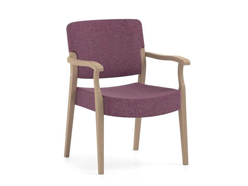 Fabric chair with armrests PIACERE | HEALTH & CARE | Chair with armrests by PIAVAL