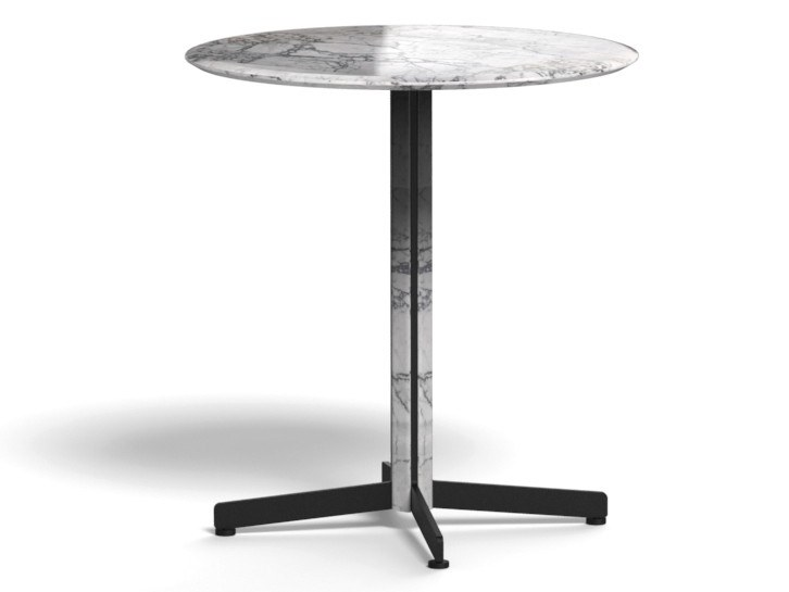 Round marble table with 4-star base PIANA MARBLE M | Round table by arrmet