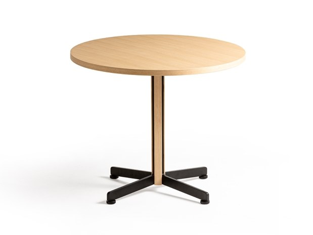 Round high side table PIANA WOOD S by arrmet